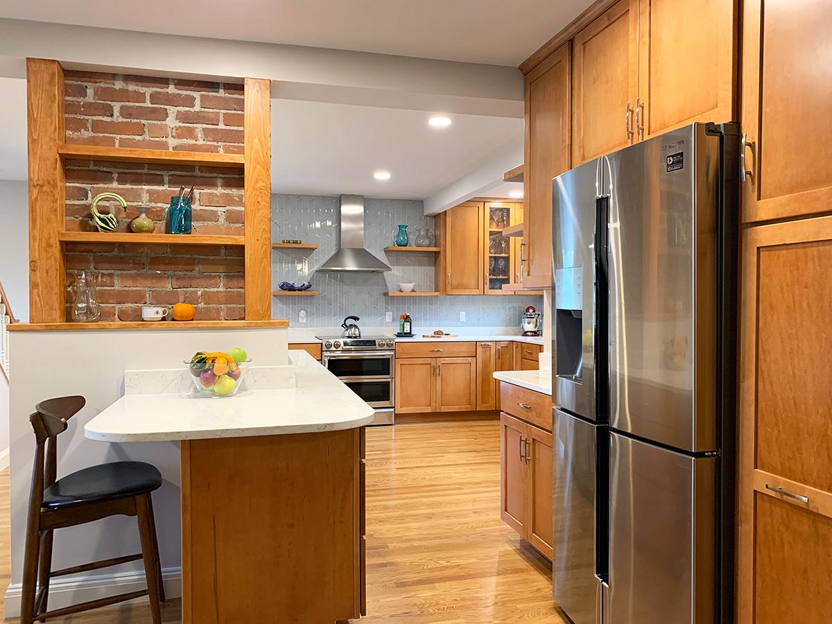 wood kitchen cabinets and custom island